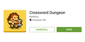 Crossword Dungeon Now Available for Android, Updated to 1.1.3 on iOS